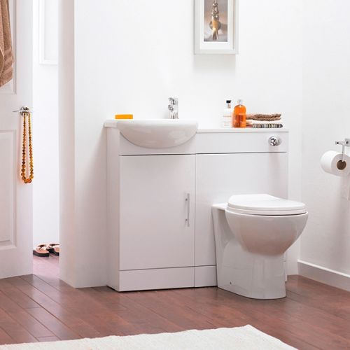 Nuie Sienna Slimline Floorstanding Furniture Pack - Gloss White (19109)