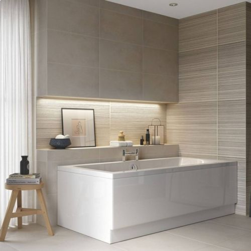 Moods Bathrooms to Love Solarna 1700 x 750mm Luxury Double Ended Bath  (14689)