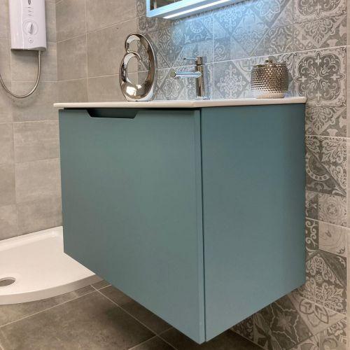 Josef Martin Sophie 750mm Wall Mounted Vanity Unit & Basin - Blue Gum (16040)