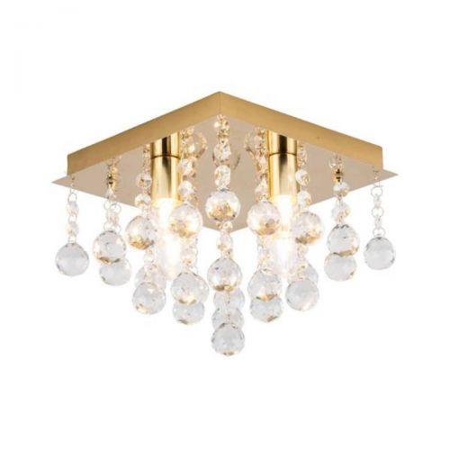 Forum Spa SPA-24468-SBRS Orlando 4 Light Square Flush Ceiling Light - Satin Brass