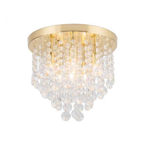 Forum Spa SPA-24870-SBRS Celeste 6 Light Flush Ceiling Light - Satin Brass