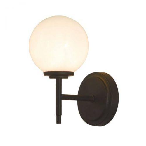 Forum Spa SPA-31306-MBLK Porto Single Wall Light - Matt Black (20590)