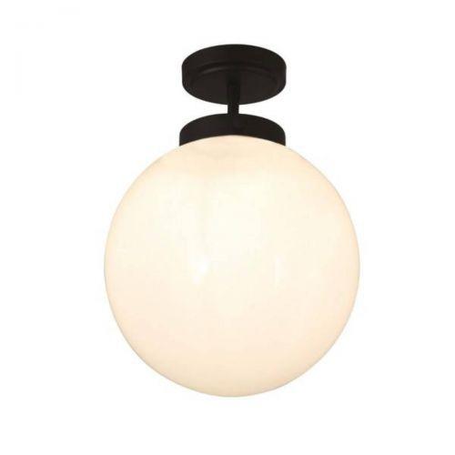 Forum Spa SPA-31309-MBLK Porto Single Semi-Flush Ceiling Light - Matt Black