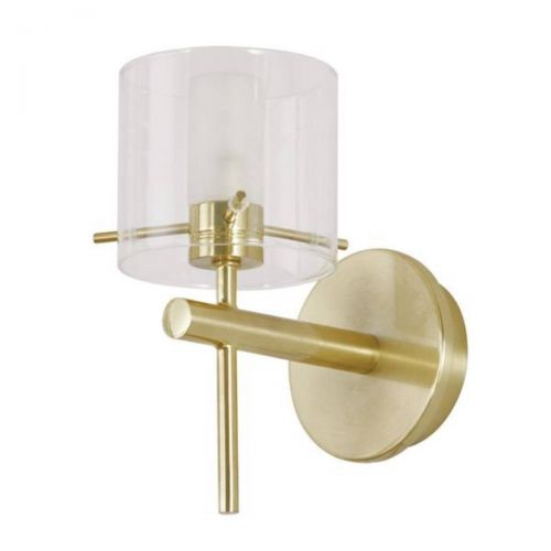 Forum Spa SPA-31725-SBRS Gene Cylinder Single LED Wall Light - Satin Brass (20588)