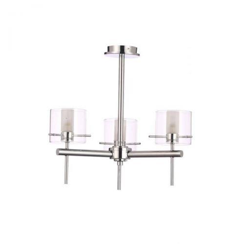Forum Spa SPA-31726-CHR Gene Cylinder 3 Light Ceiling Light - Chrome (17303)