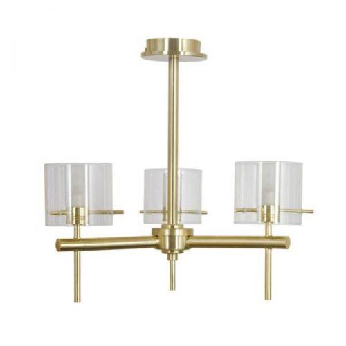 Forum Spa SPA-31726-SBRS Gene Cylinder 3 Light Ceiling Light - Satin Brass