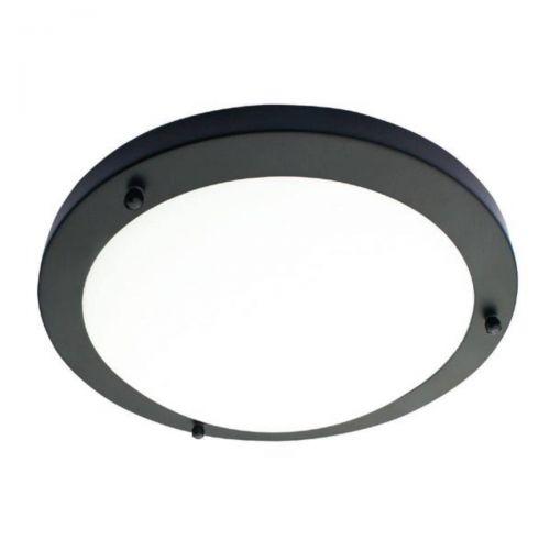 Forum Spa SPA-34046-SBLK Delphi Small LED Flush Ceiling Light - Satin Black