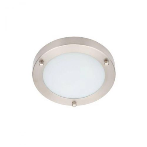 Forum Spa SPA-34046-SNIC Delphi Small LED Flush Ceiling Light - Satin Nickel