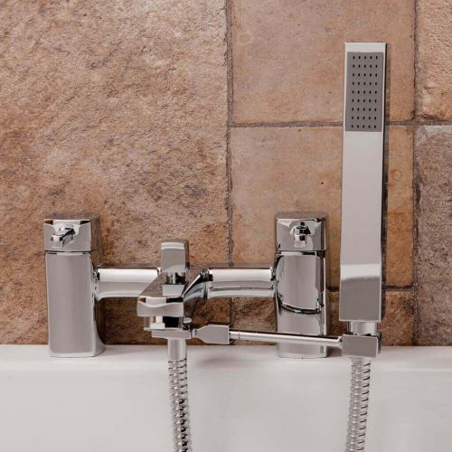 Square Shower Handset Arm & Hose (9267)