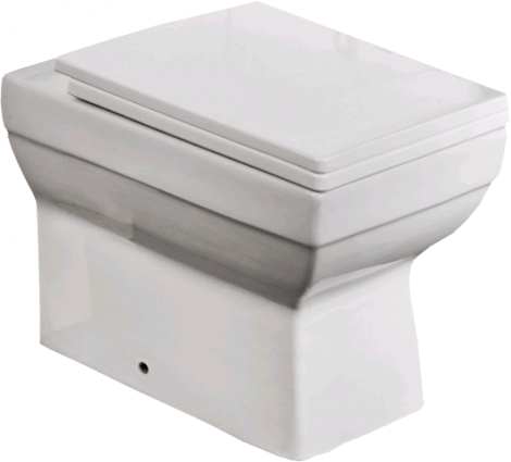 Square Back to Wall WC inc Soft Close Seat  (18850)