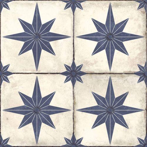 Star Blue Pattern 45 x 45cm Tile - 1.62sqm perbox (20730)