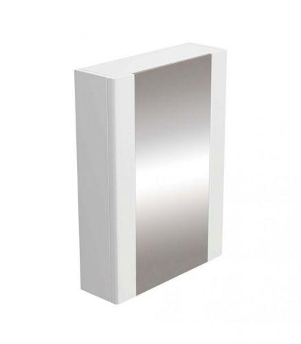Synergy Newa 470mm Single Door Mirrored Cabinet - White (11331)
