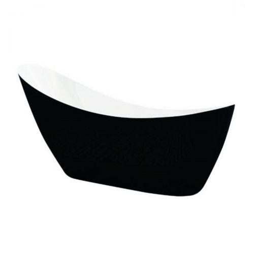 Synergy Slipper Freestanding Single Ended Bath  -  Black  (14052)