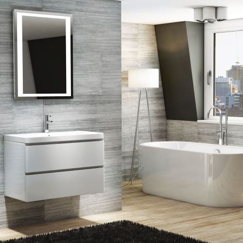 Synergy Linea 800mm Wall Hung Vanity Unit & Basin - Gloss White (10506)