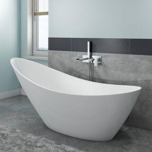 Synergy Slipper Freestanding Single Ended Bath  -  White  (14051)