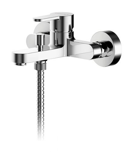 Asquiths Sanctity Wall Mounted Single lever Bath Shower Mixer inc. Kit - 17640