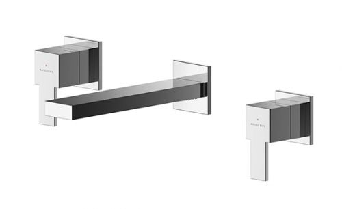 Asquiths Revival 3 Hole Wall Mounted Basin Mixer (17594)