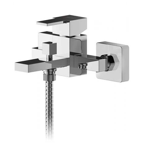 Asquiths Revival Wall Mounted Single Lever Bath Shower Mixer inc. Kit - 17602