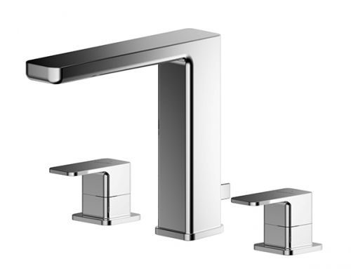 Asquiths Tranquil 3 Taphole Deck Mounted Basin Mixer inc. Waste - 17720