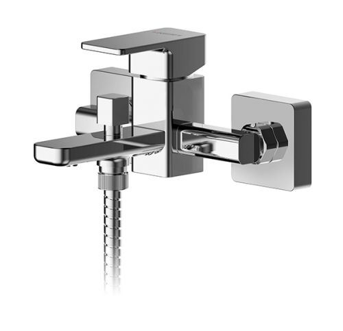 Asquiths Tranquil Wall Mounted Single Lever Bath Shower Mixer inc. Kit - 17726