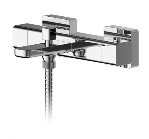 Asquiths Tranquil Wall Mounted Thermostatic Bath Shower Mixer - 2 Handles - 17727