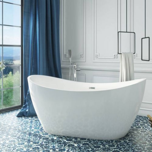 Viktor Benson Taha 1800 x 800 Freestanding Double Ended Bath  (14314)