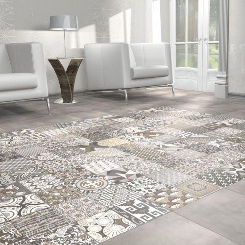 Tapis 44.2 x 44.2 Patterned Porcelain Wall & Floor Tile - 1.37sqm perbox (19644)