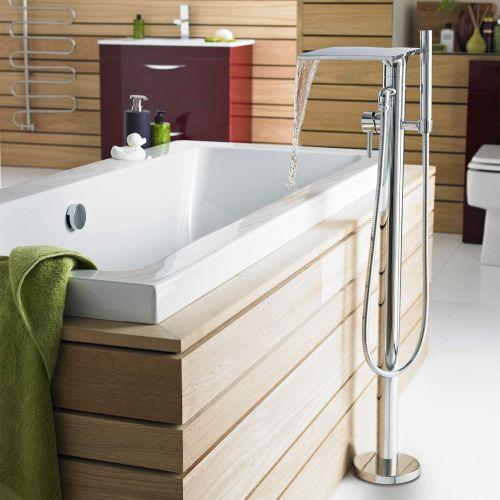 Hudson Reed Waterfall Floor Standing Bath Shower Mixer (TFR362) - 15200