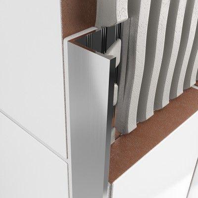 Atrim Straight Edge Tile Trim 12.5mm - Chrome - 14466