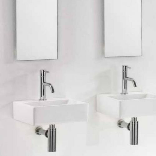Square Small Countertop/Wall Hung Basin