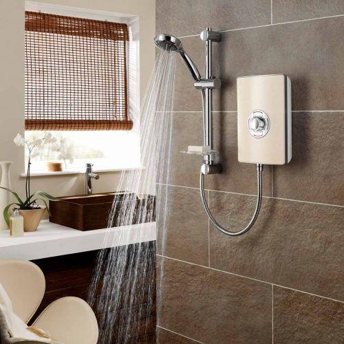 Triton Aspirante 9.5kW Electric Shower - Riveria Sand (10870)