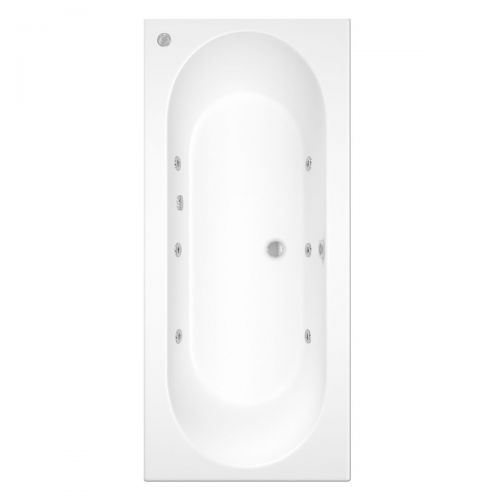 Cascade 1700 x 750mm Double Ended Bath with 6 Jet Whirlpool System (19805)
