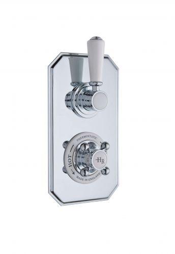 Hudson Reed White Topaz Twin Concealed Shower Valve with Diverter TSVT004 (15589)