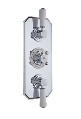 Hudson Reed White Topaz Triple Concealed Shower Valve with Diverter TSVT005 (15590)