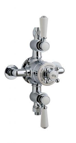 Hudson Reed White Topaz Triple Thermostatic Shower Valve TSVT102 (15593)