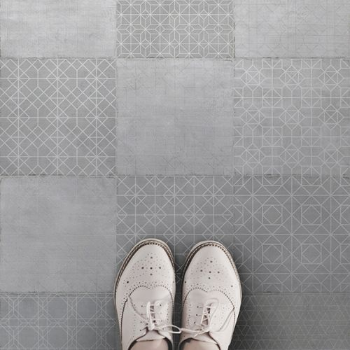 Trazos White Matt Glazed 20 x 20cm Porcelain Wall & Floor Tile - 1sqm perbox (17421)