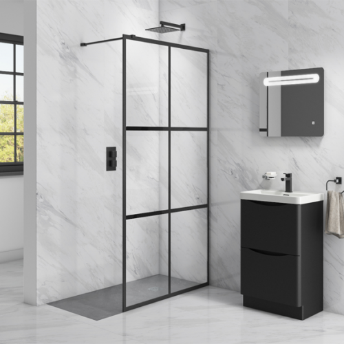 Kiimat Noir 700 x 2000mm Wetroom Panel  (14157)