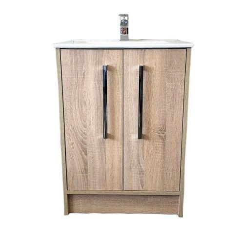 Josef Martin Urbano 900mm 2 Door Floorstanding Vanity Unit & Basin - Cambrian Oak (16340)