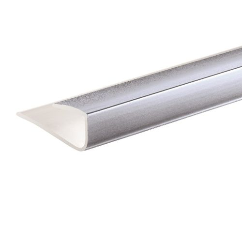 Lusso Panel 10mm U Trim Silver - 2400mm (19566)