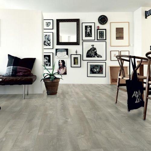 Pergo Premium Click Modern Plank Vinyl Flooring - 2.22sqm per pack - Grey River Oak (13925)
