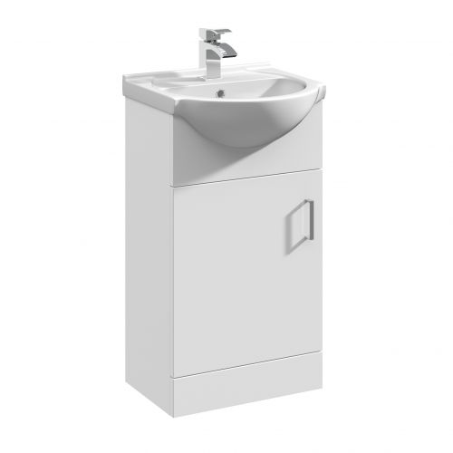 Verona 450mm Floorstanding Vanity Unit & Basin - Gloss White (14299)