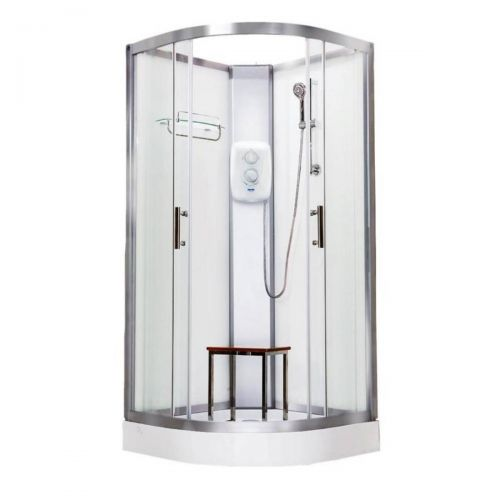 Vidalux Pure Electric 1000mm Shower Cabin White - Standard 8.5KW (20267)