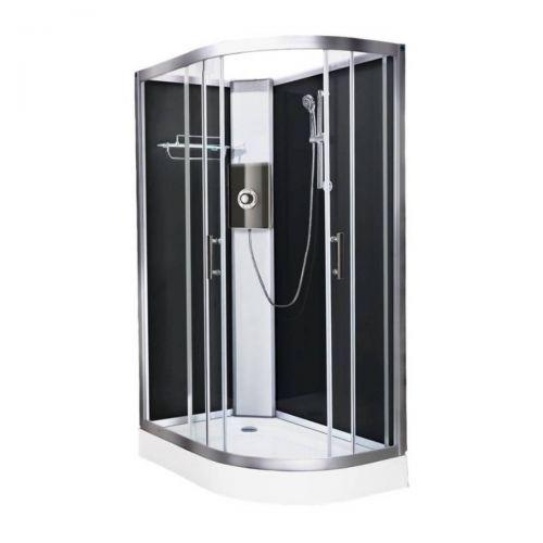 Vidalux Pure Electric 1200mm Shower Cabin Left Hand Black - Lux Black 8.5KW (20233)