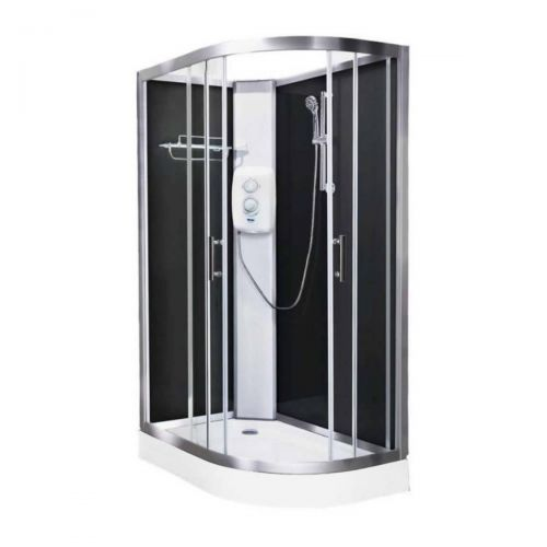 Vidalux Pure Electric 1200mm Shower Cabin Left Hand Black - Standard 8.5KW (20231)