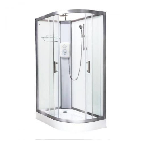 Vidalux Pure Electric 1200mm Shower Cabin Left Hand White - Standard 8.5KW (20239)