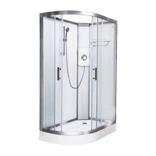 Vidalux Pure Electric 1200mm Shower Cabin Right Hand White - Lux White 9.5KW (20250)