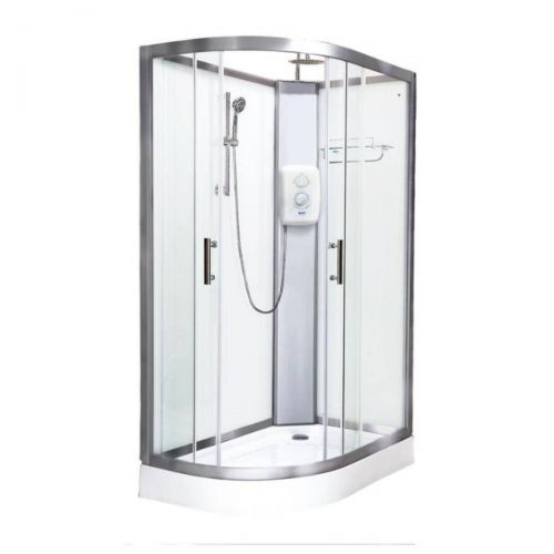 Vidalux Pure Electric 1200mm Shower Cabin Right Hand White - Standard 9.5KW (20252)