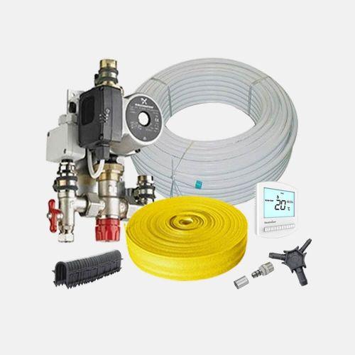 20m² Water Underfloor Heating Kit Single Zone - Low Profile