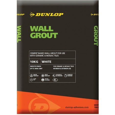 Dunlop Wall Grout White 10KG - 12789