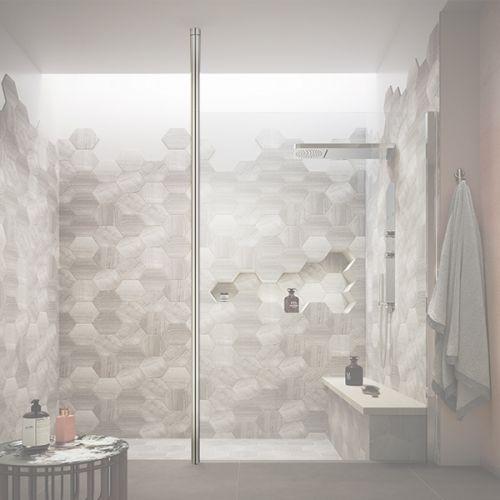 Hudson Reed Wetroom Screen Ceiling Post - Chrome (WRSF002) - 17158